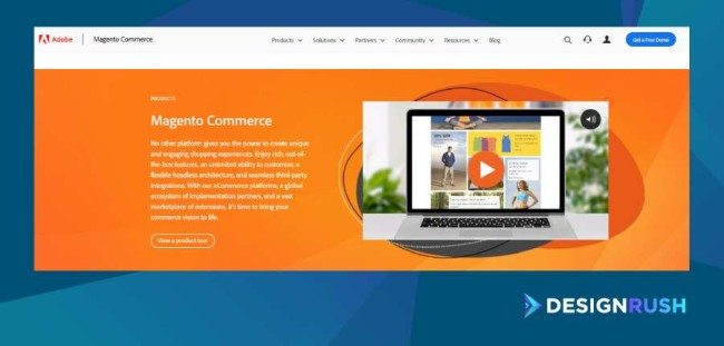 Magento commerce homepage