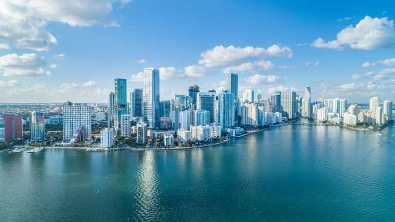 Miami eCommerce development: aerial view of Miami city
