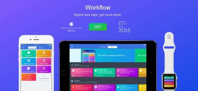 A screenshot from Workflow time management app