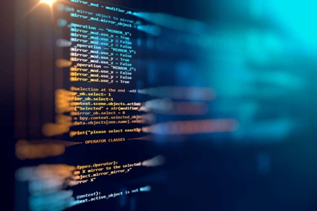 a website source code on a screen