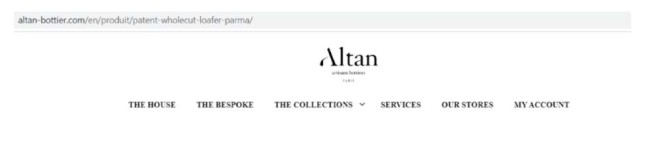 Altan eCommerce website