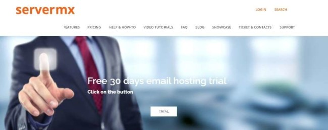 Servermx home page as one of the best hosting provoders