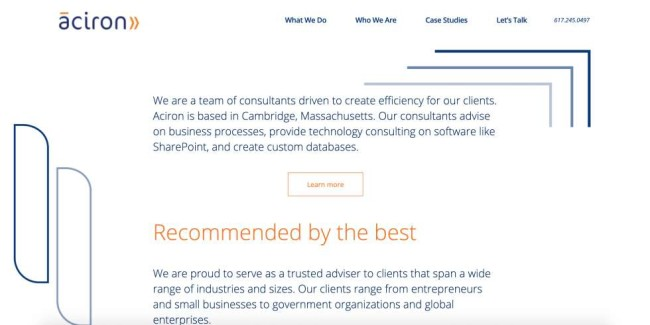Business solutions companies: Aciron