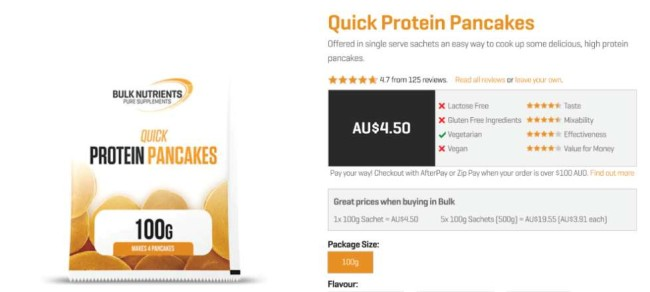 Bulk Nutrient ecommerce product page screenshot