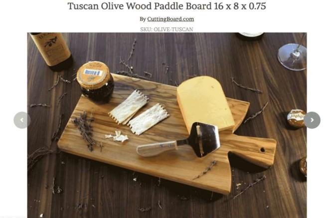 cutting borad screenshot tuscan olive wood image
