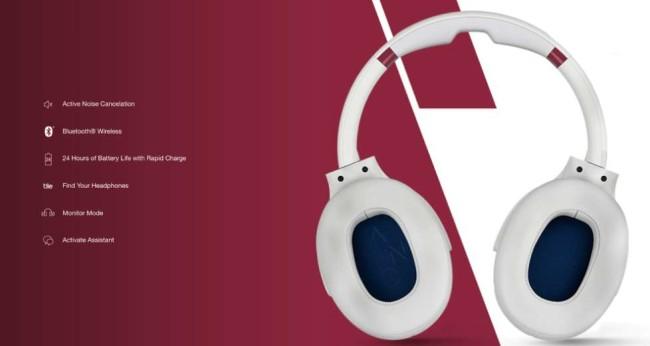 scullcandy venue noise-canceling headphones product page design